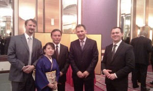 Proslava 79. rođendana japanskog cara Akihita s japanskim veleposlanikom Masaru Tsujijem